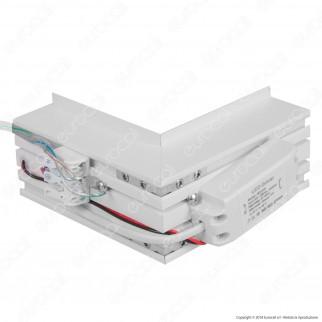 V-Tac PRO VT-7-41LN Coppia di Lampade LED Raccordo a Incasso Linear Light 10W Chip Samsung White Body - SKU 387