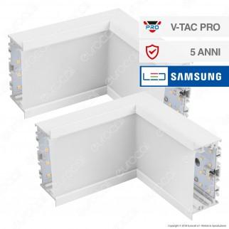 V-Tac PRO VT-7-42LN Coppia di Lampade LED Raccordo a Incasso Linear Light 10W Chip Samsung White Body - SKU 396