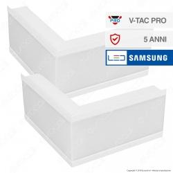 V-Tac PRO VT-7-42LW Coppia di Lampade LED Raccordo a Incasso Linear Light 12W Chip Samsung White Body - SKU 397