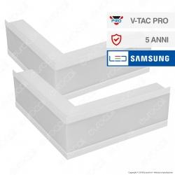 V-Tac PRO VT-7-41LW Coppia di Lampade LED Raccordo a Incasso Linear Light 10W Chip Samsung White Body - SKU 389
