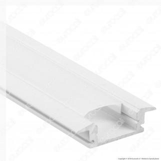 V-Tac VT-8106W 4 Profili in Alluminio per Strisce LED Colore Bianco - Lunghezza 2 metri - SKU 3368