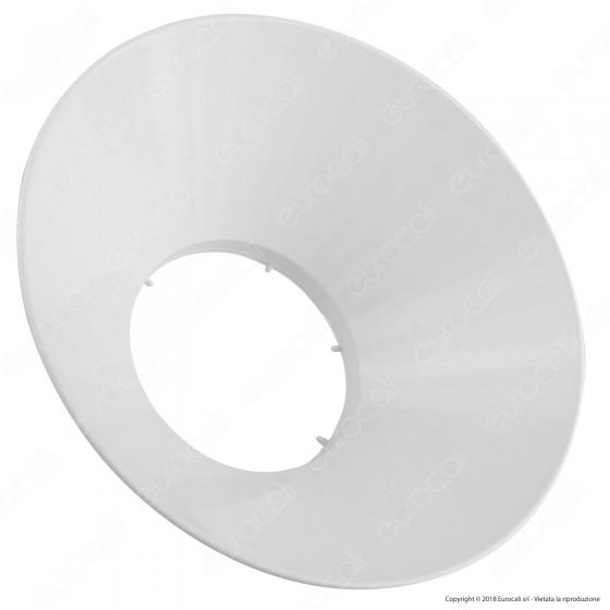 Marino Cristal Diffusore a Campana Bianco per Lampadine LED Hyper Powerled 62W