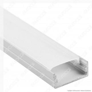 V-Tac VT-8108W 4 Profili in Alluminio per Strisce LED Colore Bianco - Lunghezza 2 metri - SKU 3367