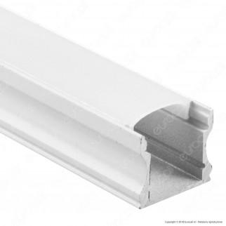 V-Tac VT-8110W 4 Profili in Alluminio per Strisce LED Colore Bianco - Lunghezza 2 metri - SKU 3366