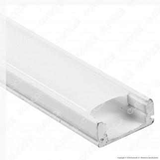 V-Tac VT-8113W 4 Profili in Alluminio per Strisce LED Colore Bianco - Lunghezza 2 metri - SKU 3365