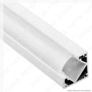 V-Tac VT-8114W 4 Profili Angolari in Alluminio per Strisce LED - Lunghezza 2 metri - SKU 3364