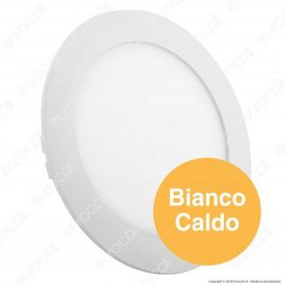 V-Tac VT-1207 RD Pannello LED Rotondo 12W SMD da Incasso con Driver - SKU 4857 / 4858 / 4859