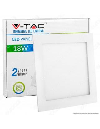 V-Tac VT-1807 SQ Pannello LED Quadrato 18W SMD da Incasso con Driver - SKU 4869 / 4870 / 4871