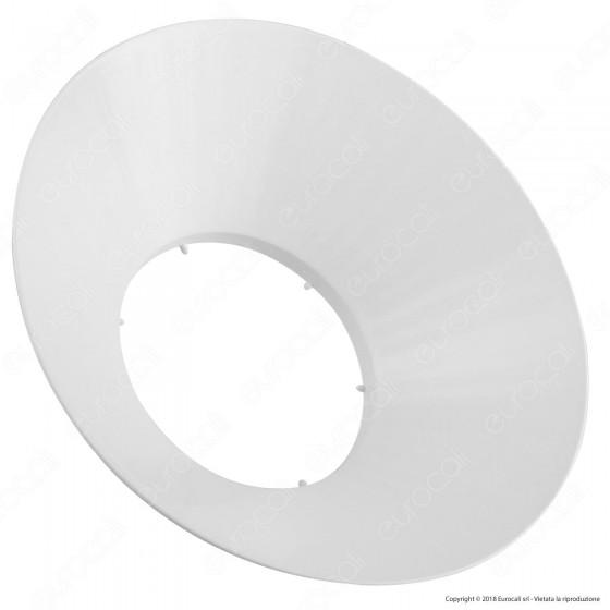 Marino Cristal Diffusore a Campana Bianco per Lampadine LED Hyper Powerled da 80W e 100W