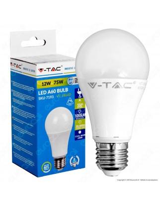 V-Tac VT-1864D Lampadina LED E27 12W Bulb A60 Dimmerabile - SKU 4275 / 7192 / 7193