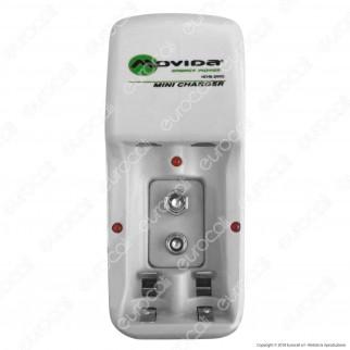Movida Mini Charger Caricabatterie + 2 Pile Stilo AA 2100mAh