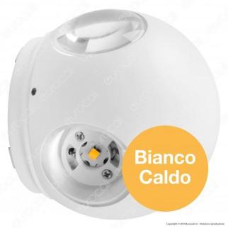 V-Tac VT-834 Lampada da Muro Wall Light LED 4W Forma Sferica Colore Bianco IP65 - SKU 8551 / 8552