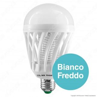 Zanzara Killer 2in1 Lampadina LED E27 9W Bulb con Luce Bianca + Luce Blu Attira ed Elimina Zanzare