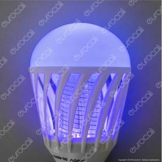 Zanzara Killer Lampadina LED E27 1W Bulb con Luce Blu Attira ed Elimina Zanzare