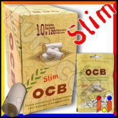 Ocb Slim 6mm Biodegradabili - Box 10 Bustine da 120 Filtri