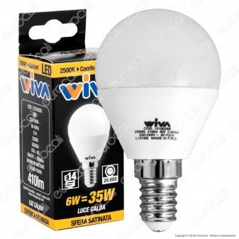 Wiva Lampadina LED E14 6W MiniGlobo P45 - Comfort - mod. 12100288