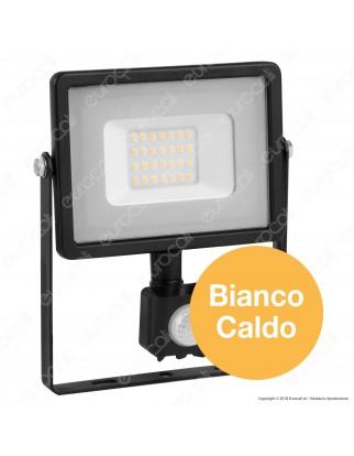 V-Tac PRO VT-20-S Faretto LED 20W Ultra Sottile Slim Chip Samsung con Sensore Colore Nero - SKU 451 / 452 / 453