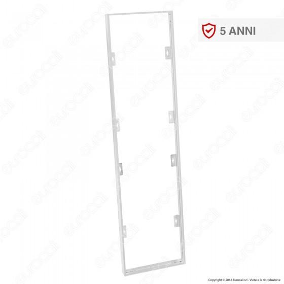 V-Tac Supporto in Metallo con Clip per Montaggio Esterno Pannelli LED 120x30 - SKU 8158