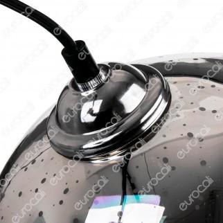 V-Tac VT-7152 Lampadario a Sospensione in Vetro Effetto 3D con Portalampada per Lampadine E27 - SKU 40111