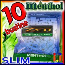 Zen Slim 6,5mm Mentolo - 10 Bustine da 200 Filtri