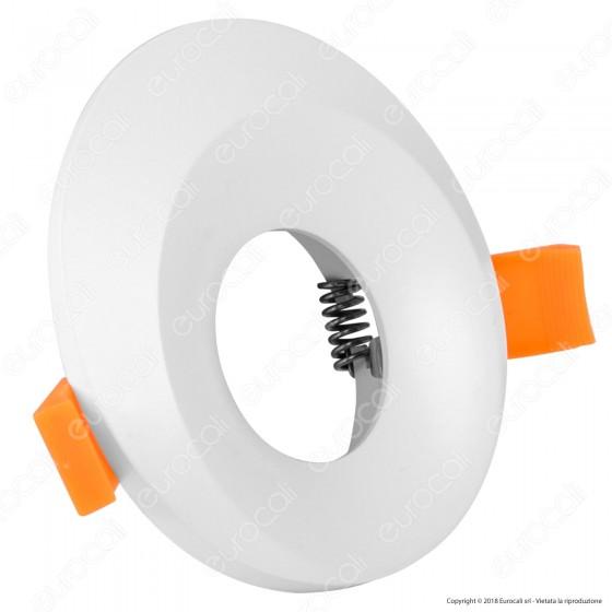 Kanlux BONIS DSO Portafaretto Rotondo da Incasso Colore Bianco per Lampadine GU10 e GU5.3 - mod. 28700