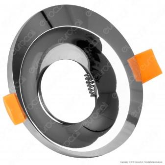 Kanlux BONIS DSO Portafaretto Rotondo da Incasso Colore Cromo per Lampadine GU10 e GU5.3 - mod. 28701