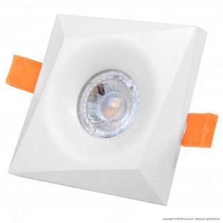 Kanlux BONIS DSL Portafaretto Quadrato da Incasso Colore Bianco per Lampadine GU10 e GU5.3 - mod. 28702
