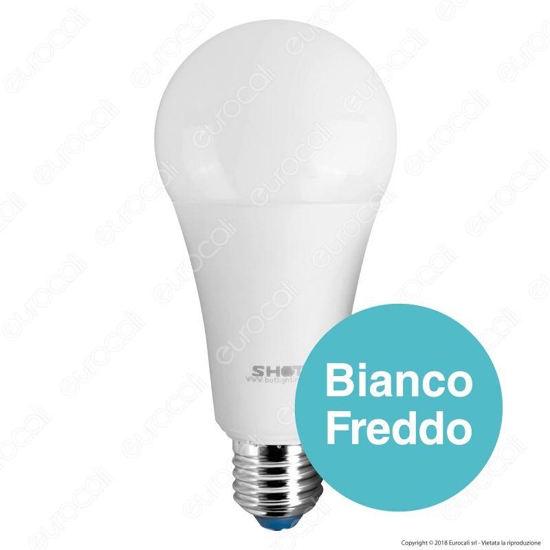 Lampadina led e27 18w bulb a67 goccia bot lighting shot for Shot bot lighting