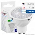 V-Tac PRO VT-227 Lampadina LED GU10 6,5W Faretto Spotlight 38° Chip Samsung - SKU 190 / 191