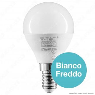 V-Tac PRO VT-270 Lampadina LED E14 7W MiniGlobo P45 Chip Samsung - SKU 864 / 865
