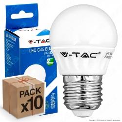 10 Lampadine LED V-Tac VT-1830 E27 4W MiniGlobo G45 - Pack Risparmio