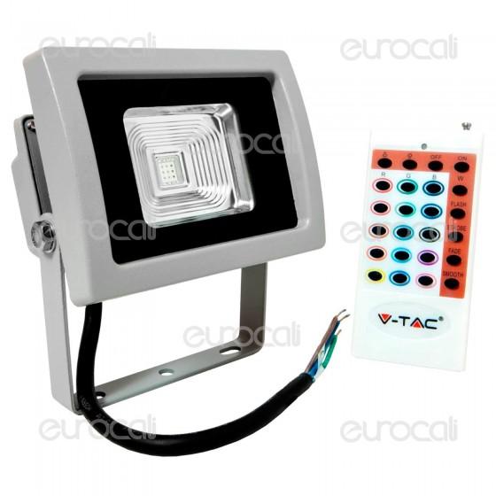 V-Tac VT-4730 RGB Multicolore Faretto LED 30W da Esterno con Telecomando