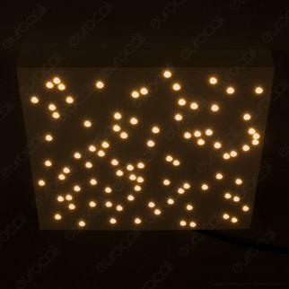 V-Tac VT-7128 Plafoniera LED 8W Forma Quadrata di Colore Bianco Effetto Cielo Stellato con Telecomando - SKU 40281