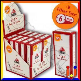 Gizeh Slim 6mm Pop-up In Cannuccia - Box 10 Scatoline da 102 Filtri
