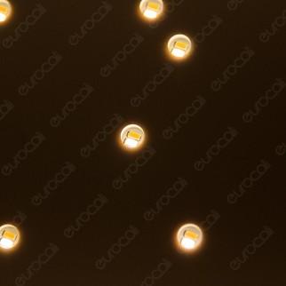 V-Tac VT-7128 Plafoniera LED 8W Forma Quadrata di Colore Oro Effetto Cielo Stellato con Telecomando - SKU 40301