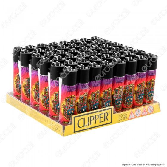 Clipper Large Fantasia Weed Mandala - Box da 48 Accendini