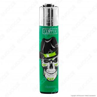 Clipper Large Fantasia Skull Hats 1 - Box da 48 Accendini