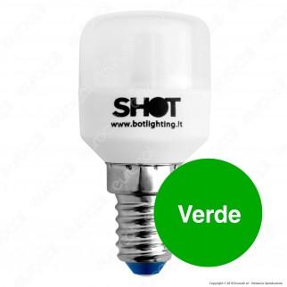Bot Lighting Shot Lampadina LED E14 1,5W Tubolare Colorata - mod. LD2102XB / LD2102XR / LD2102XG