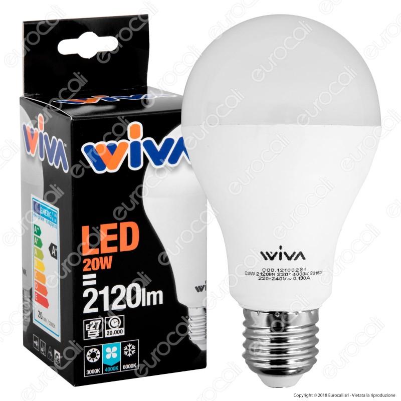 Wiva Lampadina LED E27 20W Bulb A70 - mod. 12100280 / 12100281 / 12100282