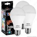 Wiva Lampadina LED E27 20W Bulb A70 - 3 Lampadine