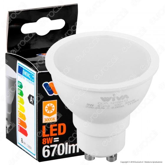 Wiva Lampadina LED GU10 8W Faretto Spotlight - mod. 12100413 / 12100414 / 12100415