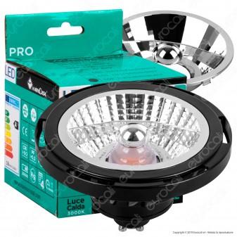 Marino Cristal Serie PRO Lampadina LED GU10 16W Faretto Spotlight Nero AR111 - mod. 21413