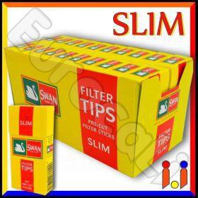 Swan Slim 6mm In Cannuccia - Box 20 Scatoline da 102 Filtri