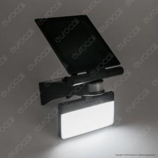 Life Faretto LED 8W a Batteria con Carica Solare e Sensore di Movimento - mod. 39.9PLS109B