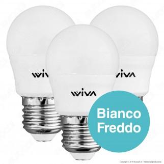 Wiva Tripack Lampadina LED E27 7W MiniGlobo G45 - Confezione 3 Lampadine ⭐️PROMO 3X2⭐️ - mod. 12101003 / 12101007 / 12101011