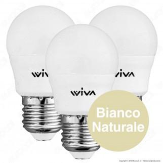 Wiva Tripack Lampadina LED E27 5W MiniGlobo G45 - Confezione 3 Lampadine ⭐️PROMO 3X2⭐️ - mod. 12101002 / 12101006 / 12101010