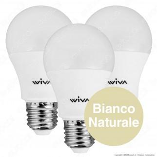 Wiva Tripack Lampadina LED E27 12W Bulb A60 - Confezione 3 Lampadine ⭐️PROMO 3X2⭐️ - mod. 12101200 / 12101201 / 12101202