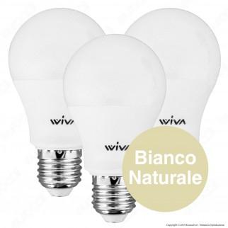 Wiva Tripack Lampadina LED E27 15W Bulb A60 - Confezione 3 Lampadine ⭐️PROMO 3X2⭐️ - mod. 12101203 / 12101204 / 12101205