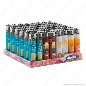 Atomic Festival Accendino Maxi Ricaricabile Fantasia Fresh Beer- Box da 48 Accendini