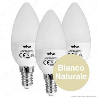 Wiva Tripack Lampadina LED E14 5W Candela - Confezione 3 Lampadine ⭐️PROMO 3X2⭐️ - mod. 12101100 / 12101101 / 12101102